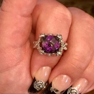 Jewelry - 6 Ct cushion cut amethyst antique ring